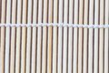 Close up macro of beige brown bamboo mat Royalty Free Stock Photo