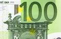Close up macro detail of euro money banknotes Royalty Free Stock Photo