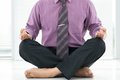 Close up male legs lotus position Royalty Free Stock Photos