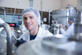 Close up of a man wearing a hair net looking at the camera Royalty Free Stock Photo