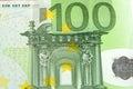 Close up of many european hundred euros Royalty Free Stock Photo