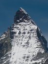 Close-up of Matterhorn peak Stock Photography