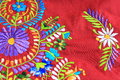 Close up of mexican embroidery design floral Stock Photos