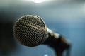 Close up microphone in studio Royalty Free Stock Photo