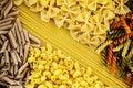 Close up of mixed of pasta Royalty Free Stock Photo