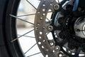 Close up Motorcycle Royalty Free Stock Photo