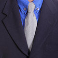 Close up necktie of businessman in studio Stock Photography