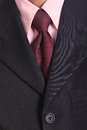 Close up necktie of businessman in studio Royalty Free Stock Image