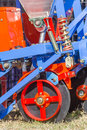 Close up new tractor plow