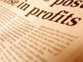 Close up of newpaper Stock Photos