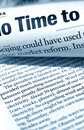 Close up of newspaper Royalty Free Stock Photo