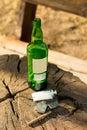 Close-up of objects - symbols of addictive habits Royalty Free Stock Photo