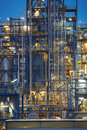 Close-up on oil refinery Stock Photo