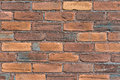 Close up of an Old Brick Wall Royalty Free Stock Photo