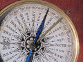 Close up of an old compass face. Royalty Free Stock Photo