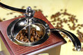 Close-up of an old-fashioned coffee grinder Royalty Free Stock Photo