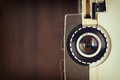 Close up of old 8mm Film Projector lens Royalty Free Stock Photo