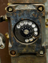 Close-up of an old phone Royalty Free Stock Image