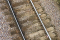 Close up of old train tracks Royalty Free Stock Photo