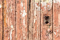 Close up of old weathered door Royalty Free Stock Image