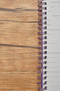 Close up of an open note book Royalty Free Stock Photo