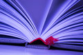 Close-up of opened book pages bookmark Royalty Free Stock Images