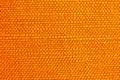 Close up of orange fabric texture Stock Photo