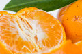 Orange flesh Royalty Free Stock Photo