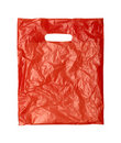Close up of a orange plastic bag Stock Photo