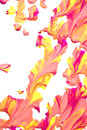 Close Up of Paint Splatters Royalty Free Stock Photo