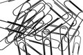 Close up paperclips Stock Image