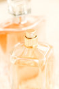 Close up parfume bottles of perfume Royalty Free Stock Photo