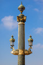 Close up of a paris street lamp france Stock Photography