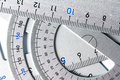 Close up a part of silver precision measurement tool Royalty Free Stock Photo