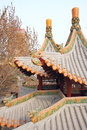 Close up pavilion chinese archaic building Royalty Free Stock Photography