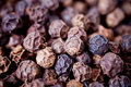 Close-up of peppercorns Royalty Free Stock Image