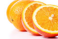 Close-up perfectly fresh orange Stock Photography