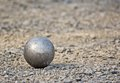 Close up petanque stone Stock Photo