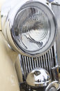 Close up photo of headlight retro car Royalty Free Stock Images