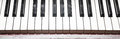 Close-up of piano key Royalty Free Stock Photo