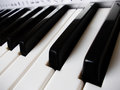 Close up of piano keys Royalty Free Stock Photo