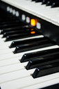 Close up of piano keys music instrument Royalty Free Stock Photos