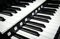 Close up of piano keys music instrument Royalty Free Stock Photo