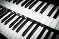 Close up of piano keys music instrument Stock Photography