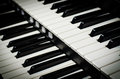 Close up of piano keys music instrument Stock Image