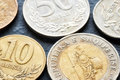 Close up picture of Albanian lek coins. Royalty Free Stock Photo