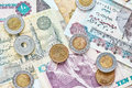 Close up picture of Egyptian pounds. Royalty Free Stock Photo