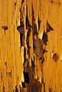 Close up picture of an old wooden house with pealing off paint a Stock Photo