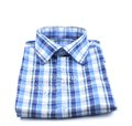 Close up of plaid shirt isolated on a white background Royalty Free Stock Images