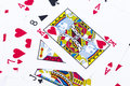 Close up playing cards background stock photo Royalty Free Stock Image